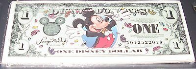 3 2000 A $1 Disney Dollar Mickey Mouse Crisp Uncirc A Series FROM SEALED PACK