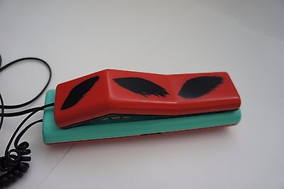 Vintage Swatch twin phone 1980s pop art red & turquoise