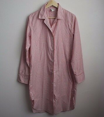 Tilley striped pajama shirt nightshirt size small made in Canada