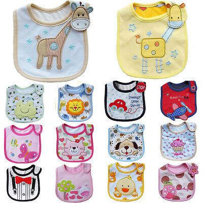 New Newborn Baby Girl Boy Bibs Saliva Towel Burp Cloth Feeding Bandanas Pinafore