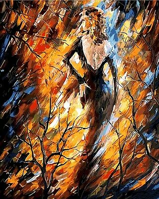 Painting by Number kit Graceful Lady Shape Dancer Beauty Abstract Woman BB7611