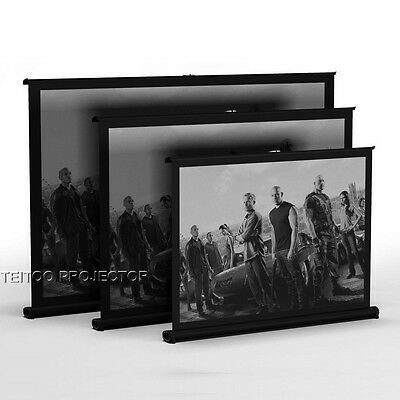 40-50 Inch Office Business Meeting Home Portable Table/Desk HD Projector Screen