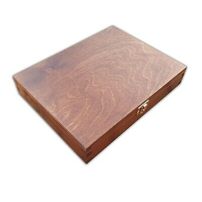 WOODEN BOX 27x21x5cm  IN LIGHT BROWN COLOUR