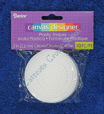 "Darice Plastic Canvas Circle 3"" 10 per Packet Circular Shape Needlepoint"