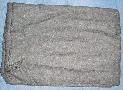 Ww1 Light Grey Wool Blanket - Reenactment, Military, Sarp, Civil War