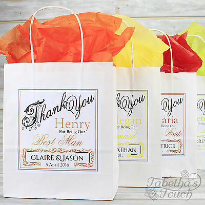 Personalised Wedding Favour Party Gift Bag | Coloured Tissue Paper