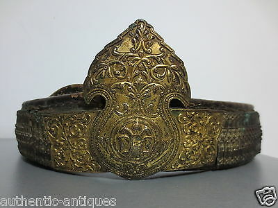ANTIQUE OTTOMAN SILVER ALLOY GILD BELT ORIGINAL 19th Century Islamic -RARE TYPE!