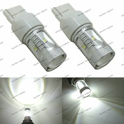 2-pc High Power White Projector LED Backup Reverse Light T20 7440 7443 Bulb 1A