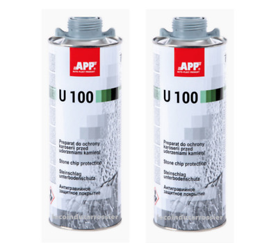 2 Blackson anti-gravillon U100 gris, 1000ml, auto, carrosserie