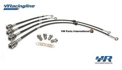 Audi A3 S3 8v Racingline Volkswagen Racing Front Rear Braided Brake Hoses Lines