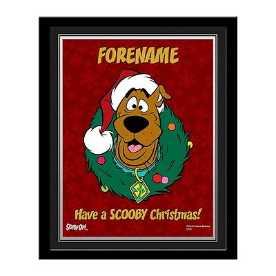Personalised Scooby Doo Christmas Photo Contemporary Frame