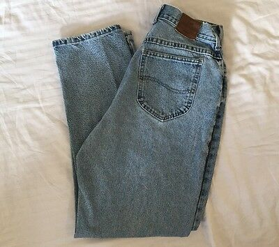 Lee Vintage 80s 90s High Rise Waist Jeans Womens Size 12 Med