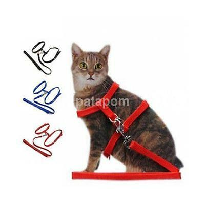 Practical Pet Cat Kitten Adjustable Harness Lead Leash Collar Belt Safety Rope