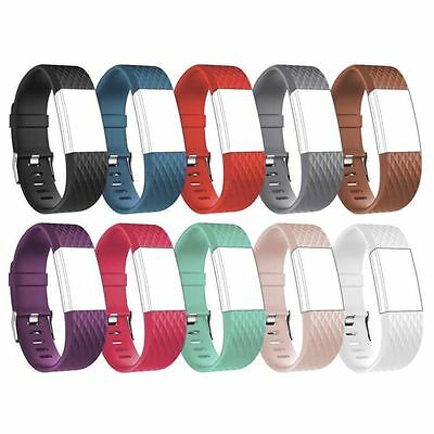 Replacement Wrist Band With Metal Buckle For Fitbit Charge 2 Bracelet Wristband