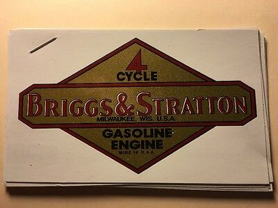Briggs & Stratton old repro 1946-47 First Gasoline Engine Decal