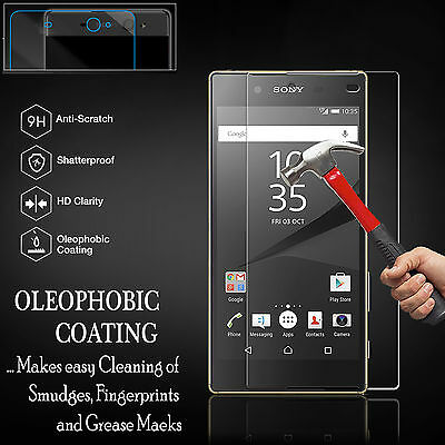 100% Genuine Gorilla Tempered Glass Screen Protector Cover For Sony Xperia Model