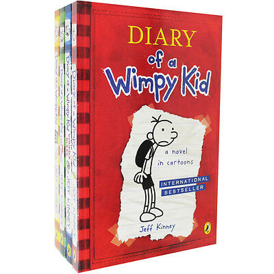 Diary Of A Wimpy Kid - 4 Book Box Set (Paperback), Children's Books, Brand New