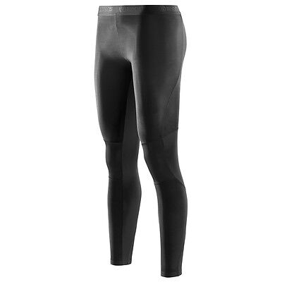 SKINS Womens RY400 Compression Long Tights For Recovery Muscle Healing Black