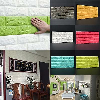 Self-adhesive Wall Sticker Panels 3D Stone Brick Soft Foam 10mm Thick Wallpaper