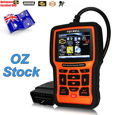 Foxwell NT510 OBDII All Systems ABS SRS Engine Code Reader Holden Car Diagnostic