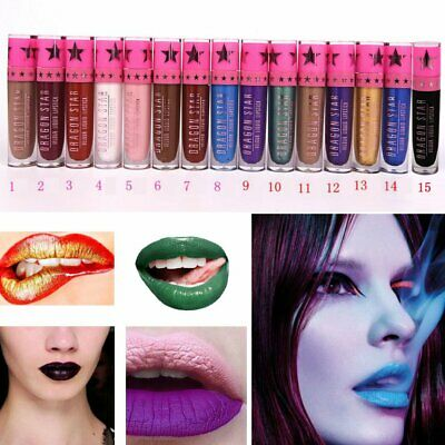 Pro Makeup Lip Liquid Lipstick Lasting Lip Gloss Waterproof Matte Velvet 15Color