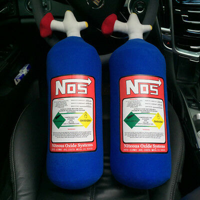 NOS Nitrous Oxide Bottle Tank Shape Car Home Pillow Plush Turbo JDM Toy 50*15cm