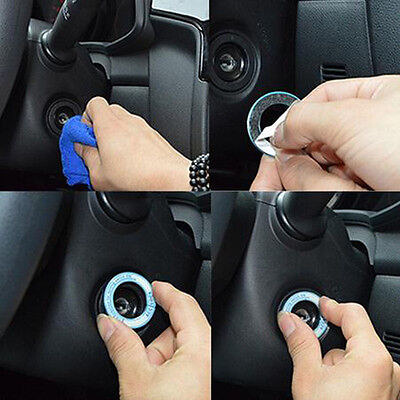 LED Luminous Car Ignition Key Ring Coil Sticker For Ford Chevrolet Toyota Honda
