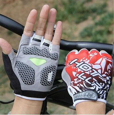 Fashion Cycling Bike Bicycle Gloves Shockproof Sports Half Finger Gloves Unisex