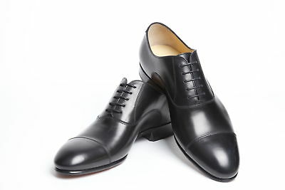 4ea3cd5bf24 NIB LOUBOUTIN AC Alfred Black Smooth Leather Lace Up Oxfords Shoes ...