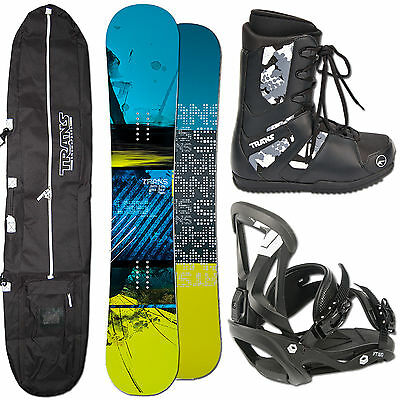 Trans Snowboard Fe 2015 ~ 151 Cm Camber + Ftwo Sonic Bindung Gr L + Bag + Boots