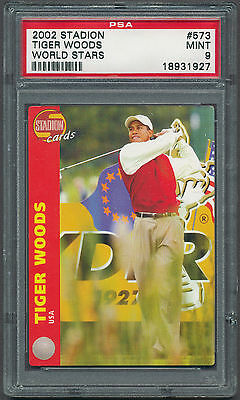 2002 Stadion #573 Tiger Woods  PSA 9 RARE! Only 1 higher of 1000 made (B&BEnt)