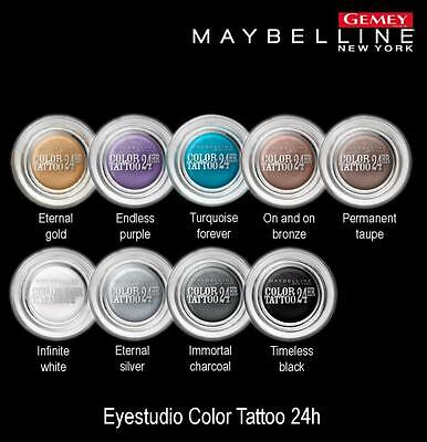 Gemey Maybelline Color Tattoo 24H Eyestudio Ombre A Paupieres 60 Timeless Black