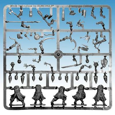 Frostgrave Cultists Sprue - 5 Plastic Multi Part Figures - 28Mm