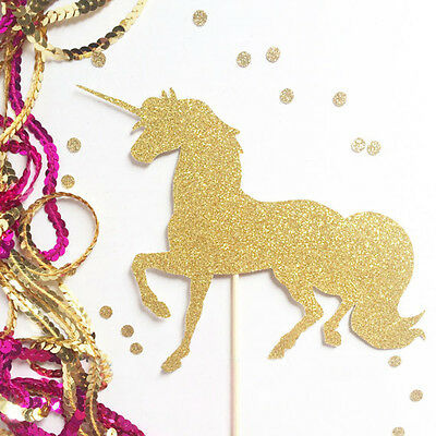 1X Home Sparkly Unicorn Pegasus Cake Topper Birthday Party Decor Accessories New