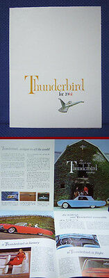 1961 Ford THUNDERBIRD Color Sales Brochure - MINT New Old Stock