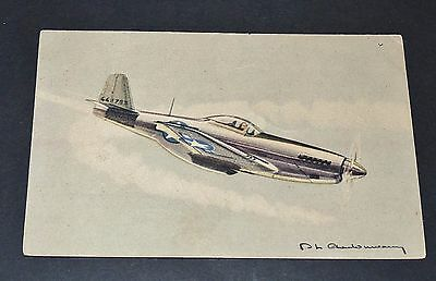 CPA AVIATION WW2 NORTH-AMERICAN P 51 MUSTANG USAF GUERRE 39-45 Ph. CHARBONNEAUX