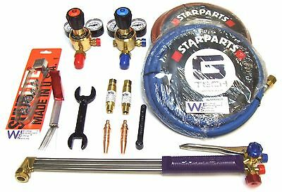 Oxygen & Acetylene Gas Axe Burning Cutting Complete kit - Welding Tools