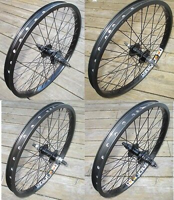 "Wheel 20"" variations BMX Front or 9T or Flip Flop Rear Double Walled Rims New"