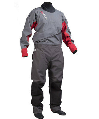 2016/17 Gul Dartmouth Front Zip Drysuit Grey Red With Free Undersuit