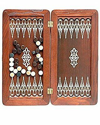 "Large Size Handmade Solid Wooden Backgammon Set Board Game ""Orion"""