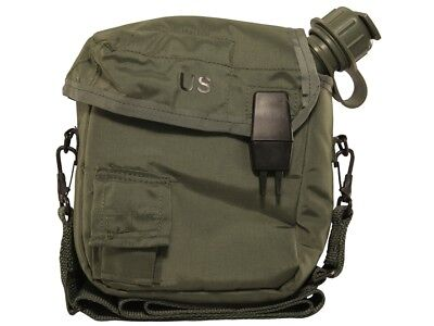 New 2 Quart Canteen with New Canteen Cover  - OD Green - USGI Military
