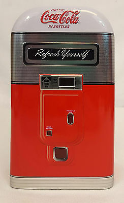 Coca Cola COKE VENDING MACHINE Refresh Yourself Collectible Tin Hinged Box