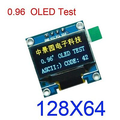 "B&Y 0.96"" I2C IIC 128X64 OLED LED Display Module Board SSD1306 For Arduino r3"