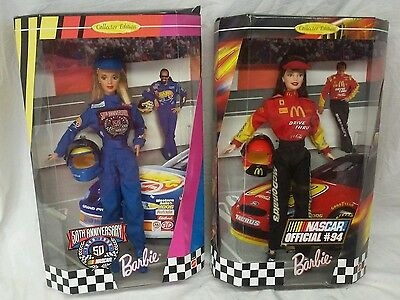 Lot of 2 NASCAR Barbies - 50th Anniversary & Official #94 Collector Edition NIB