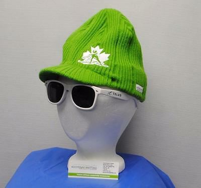 New Adult Womens Kootney Knitting green acrylic X Country Ski Knitted cap