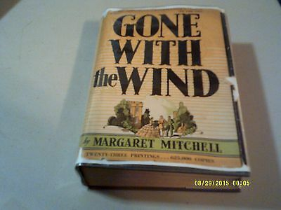 Gone With The Wind By Margaret Mitchell 1936 1St Ed 23 Rd Printing Orginal  Dj