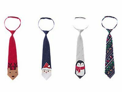 NWT Gymboree Christmas Holiday Shop Santa, Reindeer or Holiday Print Tie  U-Pk