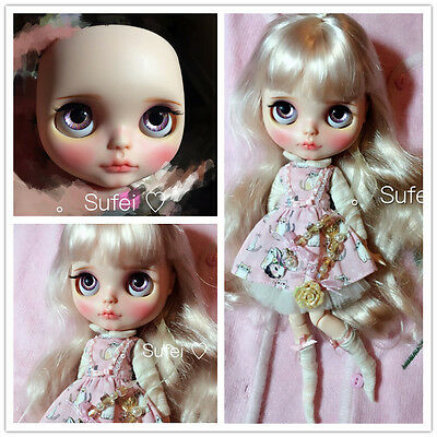 19 jointsNude Blythe Doll From Factory Long Hair+Nude Body+Matte Face