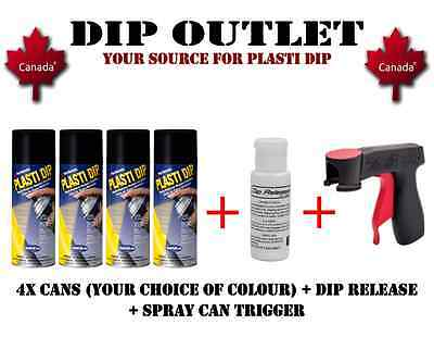 Plasti Dip Wheel Kit (4 Cans) + Spray Can Trigger + Dip Release - Canada