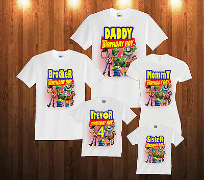 Personalized Custom Toy Story Birthday T-Shirt Family Party
